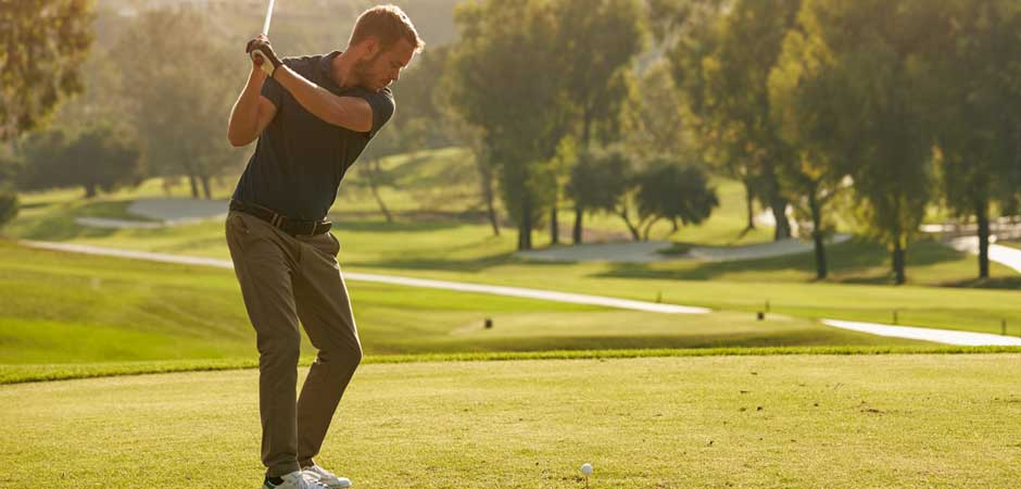 Orthopedic Man Golfing